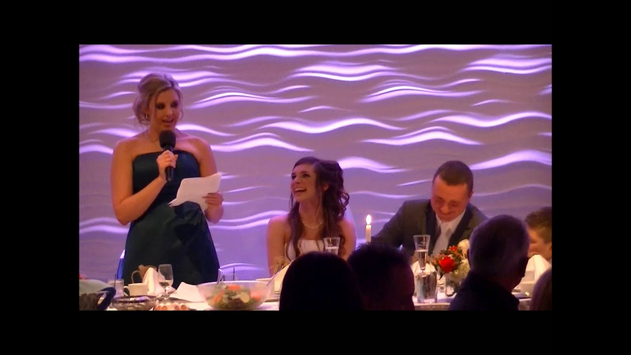Funny Maid Of Honor Speech... Best Friend's Wedding.