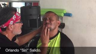 "Orlando ""Siri"" Salido training camp for Francisco ""Bandido"" Vargas."