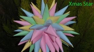 Как сделать из бумаги - Новогоднее украшение из бумаги: Christmas Star