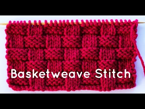 how to knit the basketweave stitch youtube