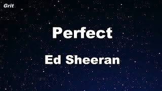 Download Lagu Perfect - Ed Sheeran Karaoke 【No Guide Melody】 Instrumental Gratis STAFABAND