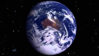 The Earth rotating from space?