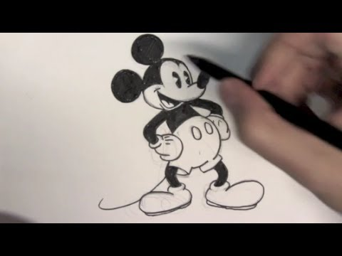 Wie zeichnet man mickey mouse online zeichnen lernen youtube - Dessiner disney ...