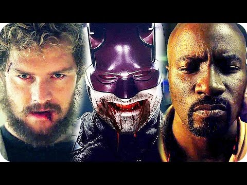 MARVEL NETFLIX SERIES All Comic Con Trailers (2016) The Defenders, Daredevil, Luke Cage, Iron Fist