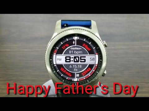 Gear S3 Funday Sunday Watch Face Review (Happy Father's Day)