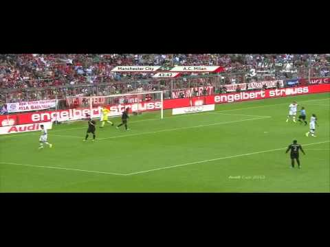 Highlights AC Milan 3-5 Manchester City 31-07-2013