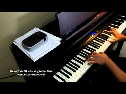 (/a/) Steins;Gate OP - Hacking To The Gate (Piano Transcription)