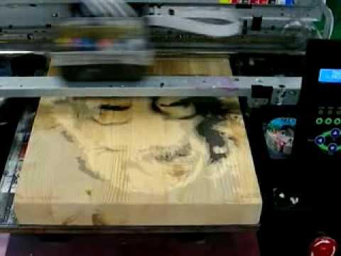 flatbed printer print in wood youtube. Black Bedroom Furniture Sets. Home Design Ideas