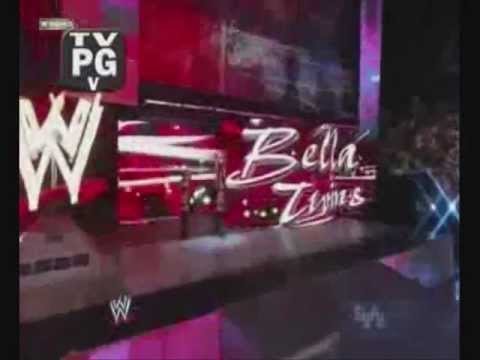 Brie Bella Entrance/w Nikky Bella Smackdown  Black attire (Real)