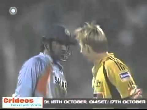 Best ever fight between Cricketers Zaheer Khan Reply to Harsh Brett Lee 7th ODI Must Watch It..!