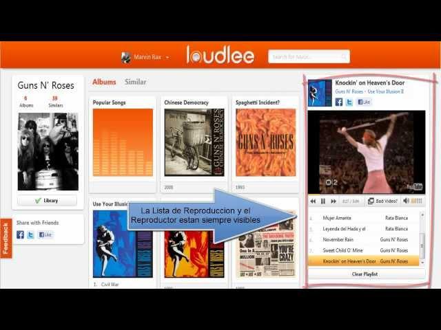 Loudlee: Escucha música online y crea listas de reproducción muy fácilmente