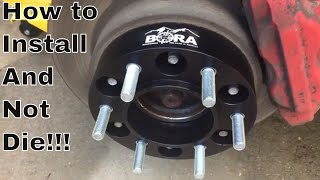 How to Install Wheel Spacers. And not Die! I Must be Insane!