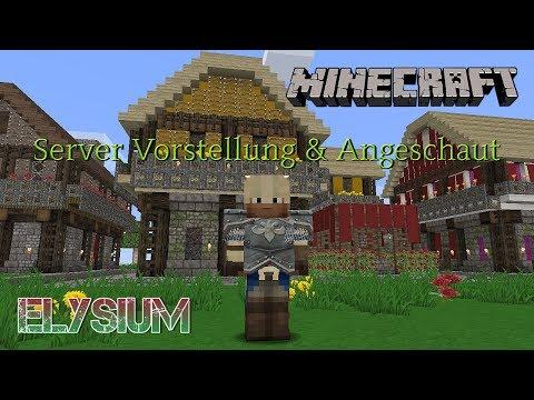Minecraft Server Vorstellung & Angeschaut - Project Elysium - German Deutsch