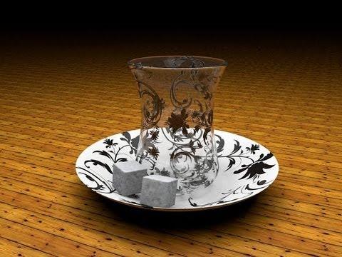 Урок № 1 Cinema 4d создание чайного стакана в cinema 4d