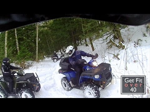 Sledding-Quading at Tamihi Creek in Chilliwack BC Canada