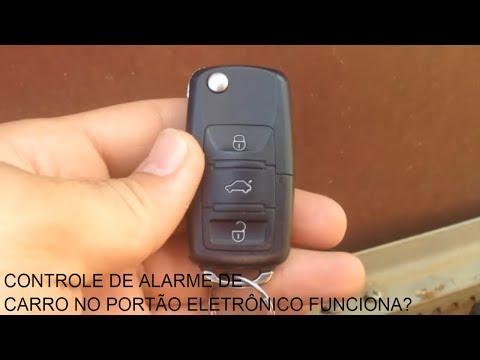 Controle de alarme de carro no portão eletrônico funciona?