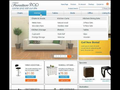 0 Furniture shop osCommerce template