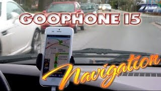 Goophone i5 N2 Navigation Test - CoPilot Live - Apple iPhone 5 Fake? MT6577 - ColonelZap