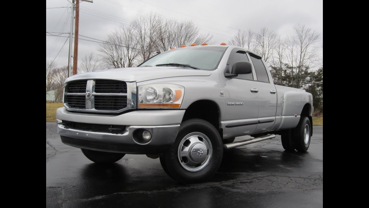 Dodge Ram 3500 Dually >> 2006 Dodge Ram 3500 SLT 4X4 Cummins DIESEL Dually! SOLD!!! - YouTube