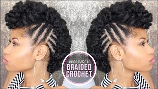 How To ➟ SIDE BRAIDED CROCHET UPDO!