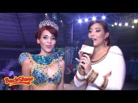 Alanna Hernandez Reina Miss Carnaval 2015 BackStage