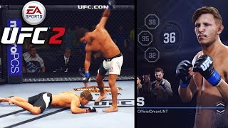 WORST Created Fighter EVER! 36 Overall - So Many Knock Downs! EA Sports UFC 2 Online