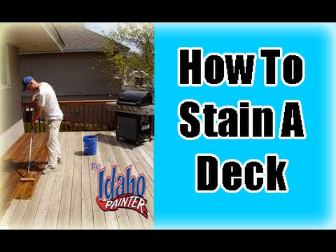How To Stain Wood  GardenFork  YouTube