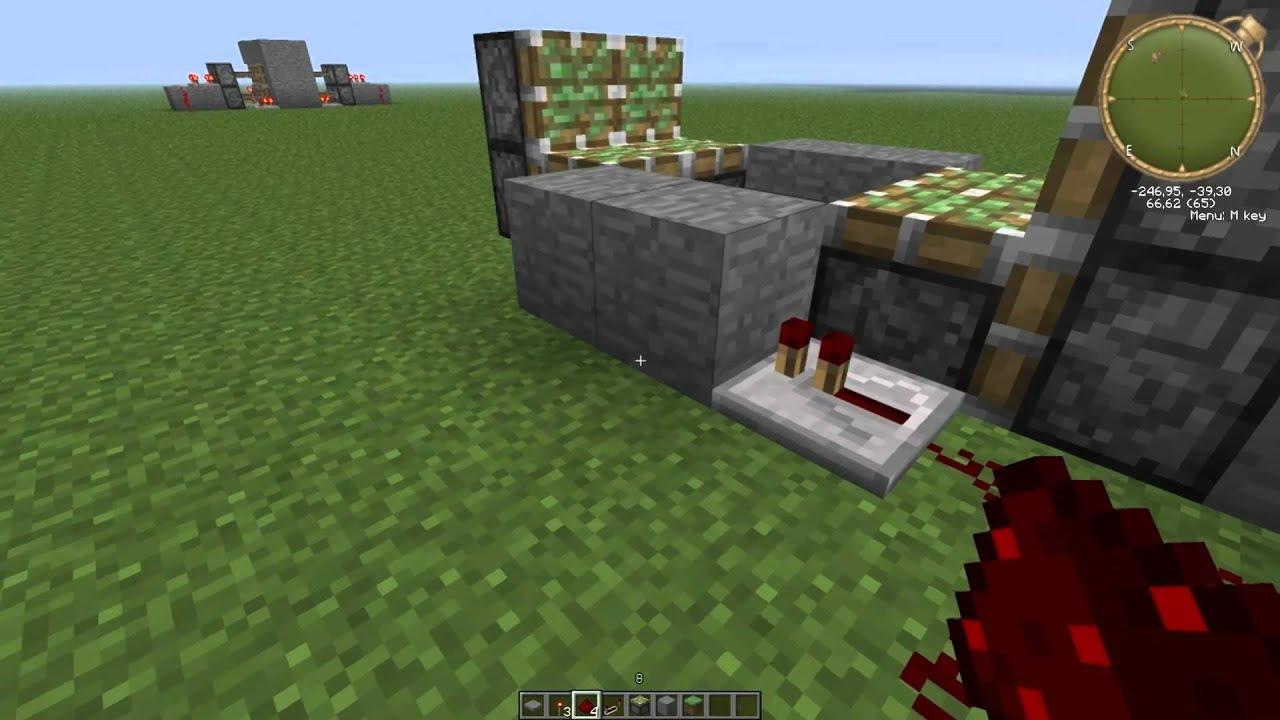 Build A Hidden Door In Minecraft