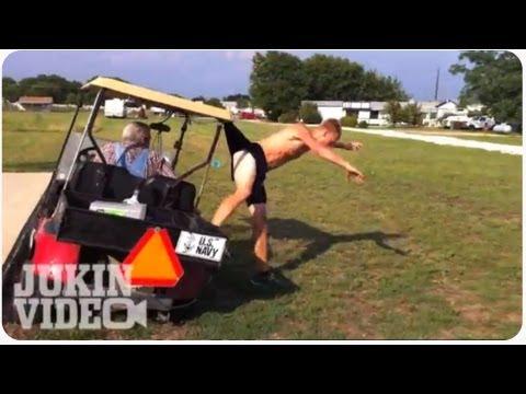 Czy można przeskoczyć wózek golfowy?