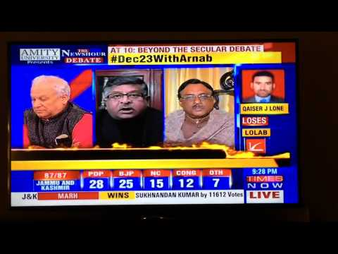 Ravi Shankar Prasad slams Kumar Ketkar publically on Times Now NewsHour !!