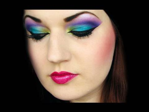 Arabian Peacock: Colorful Arab makeup tutorial (by MissChievous)