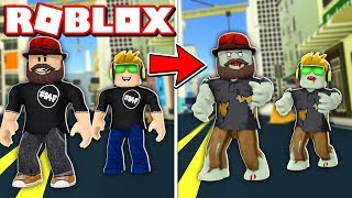 TURNING INTO ZOMBIES in ROBLOX ZOMBIE OUTBREAK