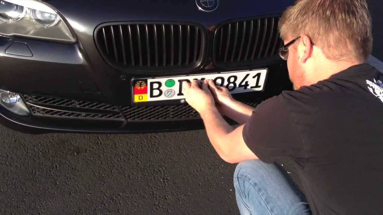 Lock Out Kit For Cars >> How to Mount Your Custom European License Plate Using 3M Dual Lock - YouTube