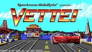 Vette! gameplay (PC Game, 1989)