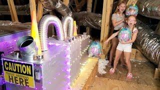 Francesca and Leah create NEW RAINBOCORNS Series 2 with a MAGIC MACHINE!!!
