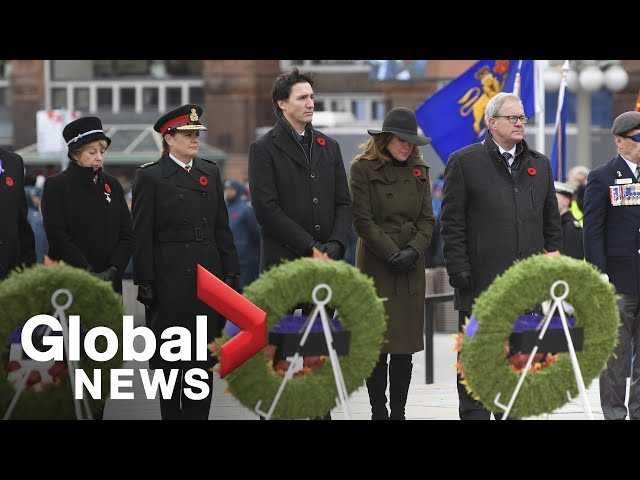 Remembrance Day Trudeau, Payette among those to lay wreaths at National War Memorial