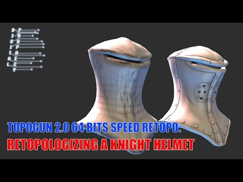 Retopologizing a Knight Helmet in Topogun in 20 Minutes