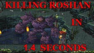 DOTA 1 - How To KILL ROSHAN 1v1 in 1.4 Seconds
