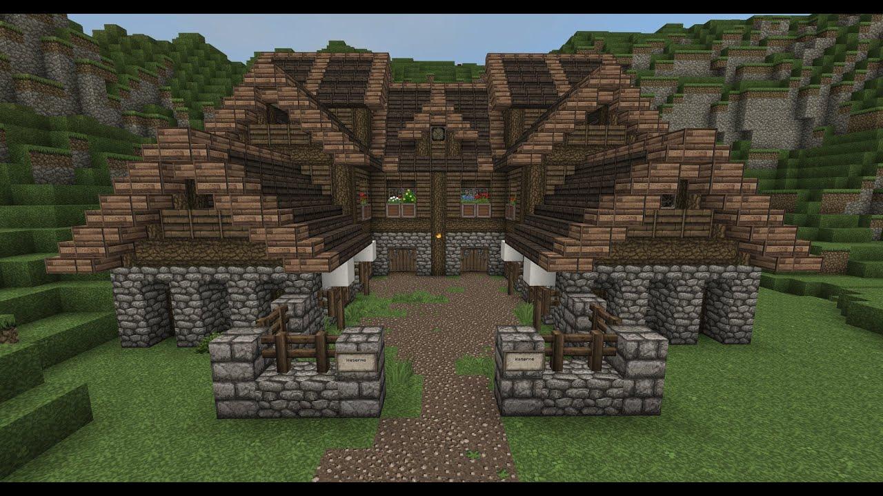 Minecraft Gundahar Tutorials Medieval Barracks YouTube