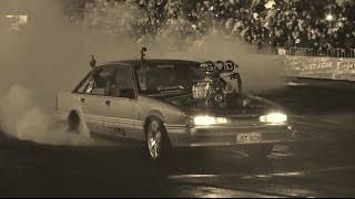 JSTWCH BLOWN V8 COMMODORE AT BURNOUTS UNLEASHED 23.8.2014