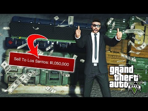 GTA 5 - $1,050,000 GUN RUNNING DLC FULL STOCK EXPORT!! (GTA 5 Online Gunrunning DLC)