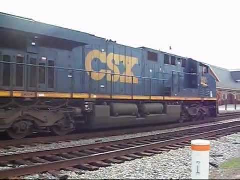 CSX 800 & CSX 6054 F.T. CAPE FEAR RIVER IN FAYETTEVILLE N.C. ON 10/17/12.....VIDEO#90