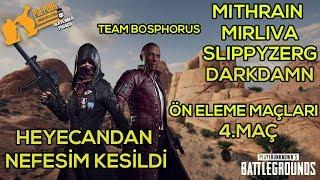 PGL - Mithrain, Mirliva, Slippyzerg ve Darkdamn Pubg Turnuvası Ön Eleme Maçları 4. Maç