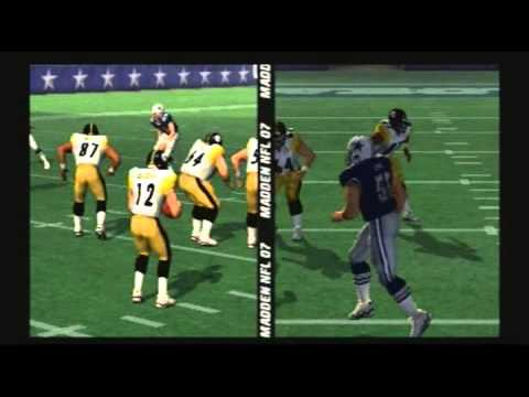 Madden NFL 07 Historic Teams Special 1975 Pittsburgh Steelers vs 1975 Dallas Cowboys Video Game Simulation video Game (Video Game Genre) PlayStation 2 Video ...