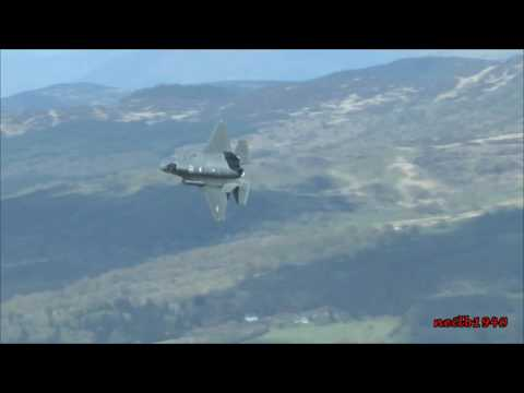 F35's Mach loop Low level Wales