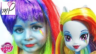 Макияж Makeup Tutorial  My Little Pony Rainbow Dash!  Equestria Girl Doll Cosplay
