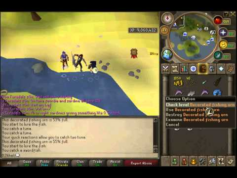 Runescape Urn guide (fishing) live commentary