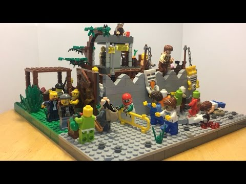 Лего самоделка #30 на тему зомби апокалипсис лагерь бандитов