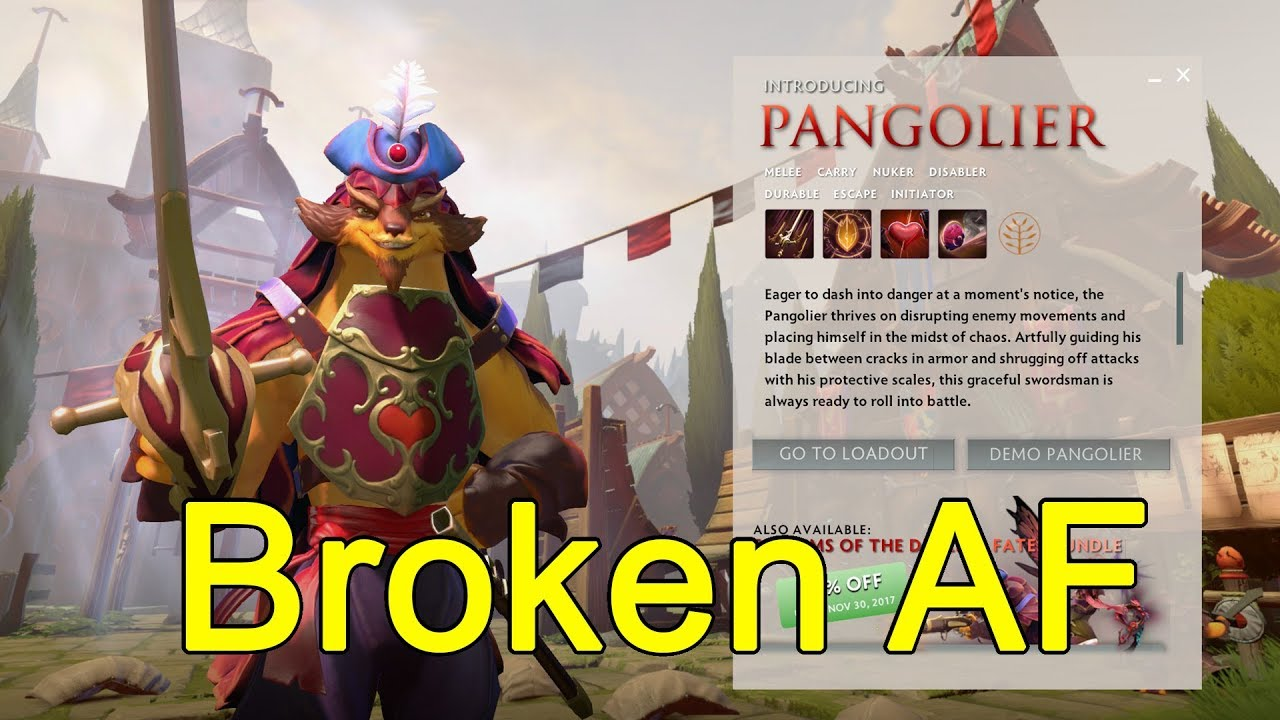 Introducing PANGOLIER, New hero of patch 7.07 - This hero is broken AF