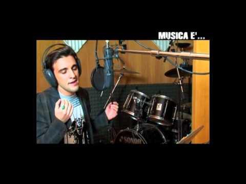 "Marco Clarizia Vocal Coach a ""Musica è"" (Backstage – Esibizione Gianluca Giordano)"